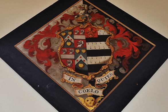Nathaniel Pattinson Hatchment, St Peter's Congleton