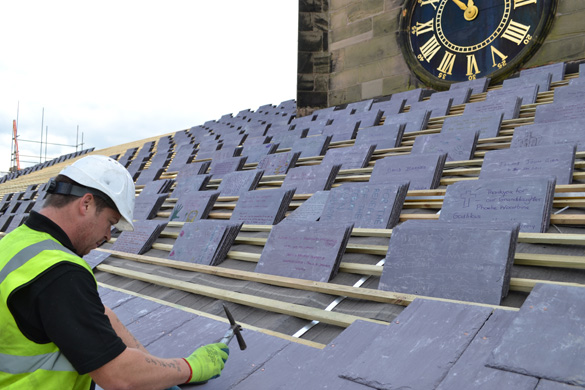 Signed Slates at St Peter's Congleton