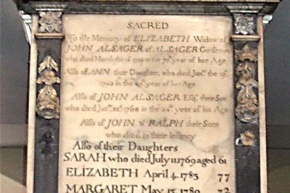 Alsager Family, St Peter's Congleton